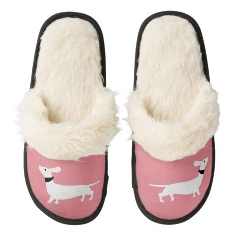 daschund slippers chic pink dachshund slippers from zazzle home gifts