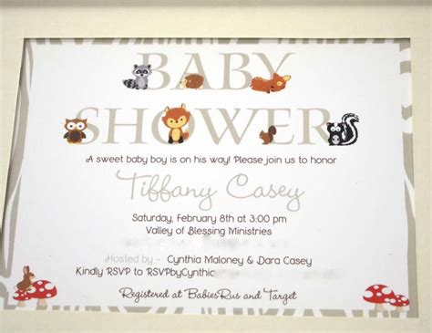 Woodland Critters Baby Shower by Woodland Forest Baby Shower Quot Woodland Critters Quot Catch