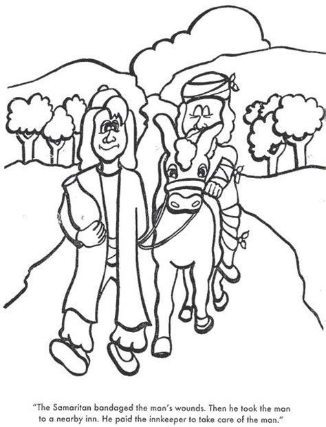 The Good Samaritan Again The Good Samaritan Samaritan Coloring Page