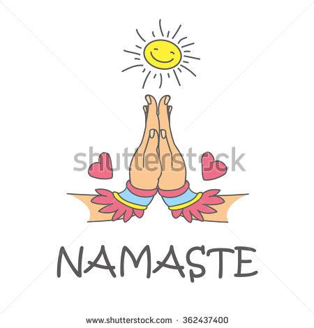 namaste clipart namaskar stock images royalty free images vectors