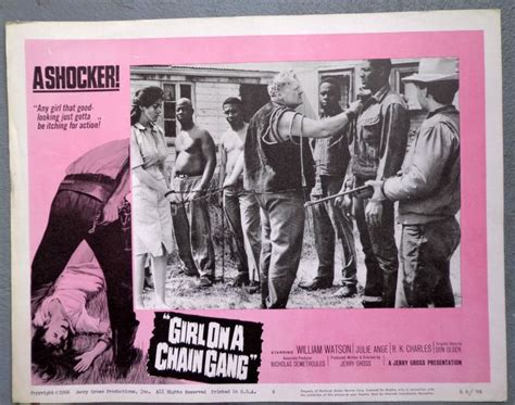Grindhouse Lobby Card Template by Details About On A Chain Lobby Card Vtg
