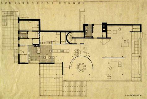 villa tugendhat floor plan 25 best images about mies villa tugendhat on pinterest