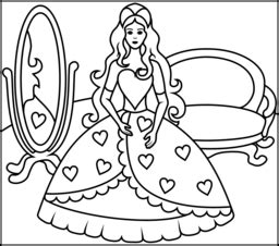 princess coloring pages by numbers princess and mirror coloring page printables apps for kids