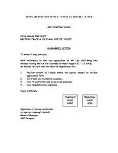 company guarantee template best photos of corporate guarantee letter sle company