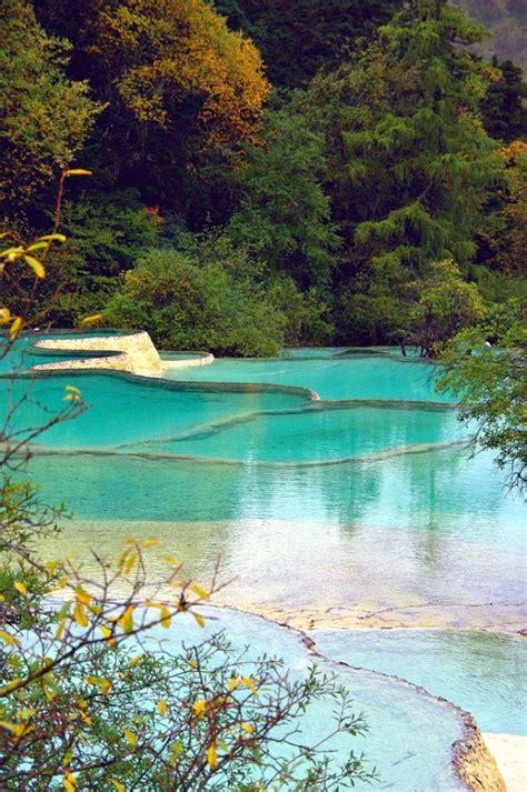 rest  huanglong hot springs  sichuan