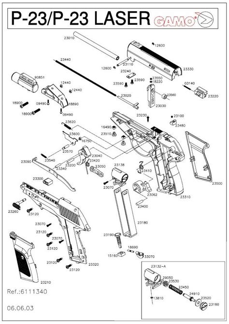 Gamo P23 177 Bb gamo p 23 airgun parts breackdown