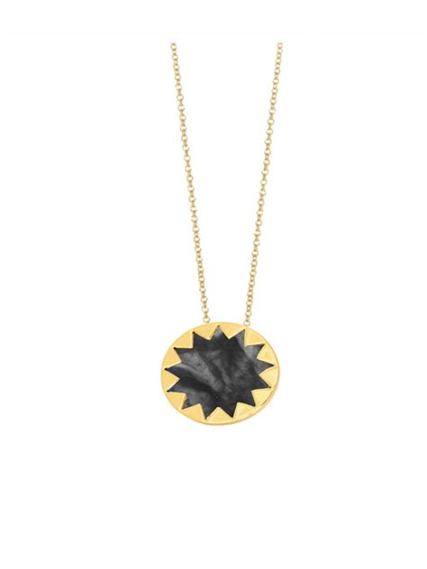 House Of Harlow Sunburst Necklace by House Of Harlow 1960 Mini Sunburst Pendant Necklace In