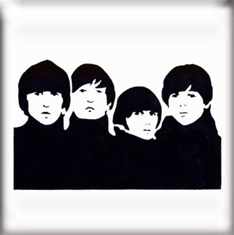 Kaos The Beatles Logo Stencil beatles stencil http thestencilstudio stencil
