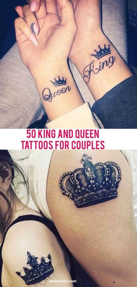 king and queen tattoo ribs 50 king and queen tattoos for couples tatoo pinterest