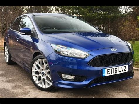 used ford focus 1.5 ecoboost st line 5dr deep impact blue