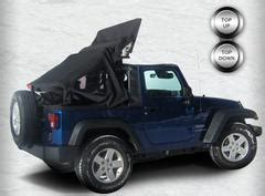 Jeep Convertible Top World S Power Convertible Top For The Jeep Wrangler