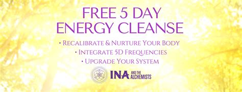 5 Day Clean Detox Plan by Five Day Energy Cleanse Ina And The Alchemists