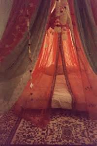 Artistic artsy bed bedroom blankets bohemian boho canopy dream