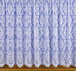 Tulle Valance Design 3000 Traditional Victorian Lace Effect White Net