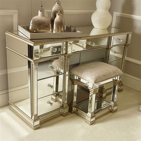 mirrored dressing table mirror athens gold mirrored 9 drawer dressing table picture