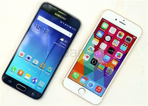 Samsung S6 Vs Iphone 6 samsung galaxy s6 vs apple iphone 6 photo gallery