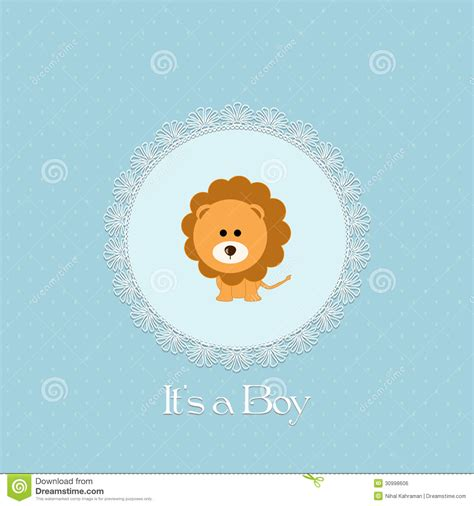 Baby Born Bath And Shower baby shower card for baby boy with lion and lace frame