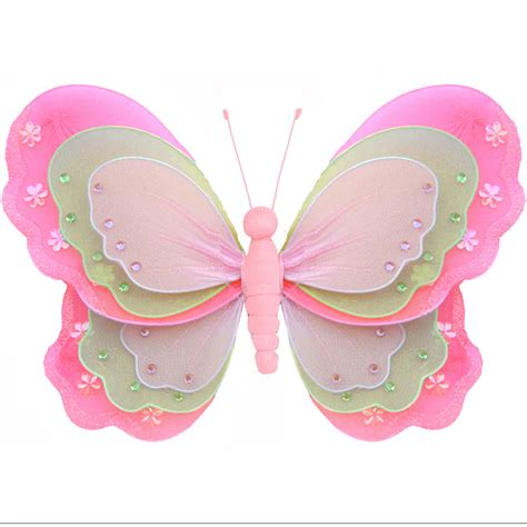 Hanging Butterfly Decorations by Hanging Butterfly Dk Pink Green Pink Baby Nursery