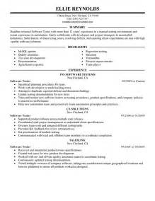 Cover Letter For Software Testing by Best Software Testing Resume Exle Livecareer