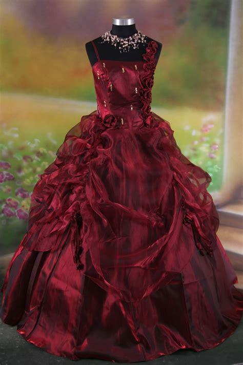 elegant red gothic wedding dress sang maestro