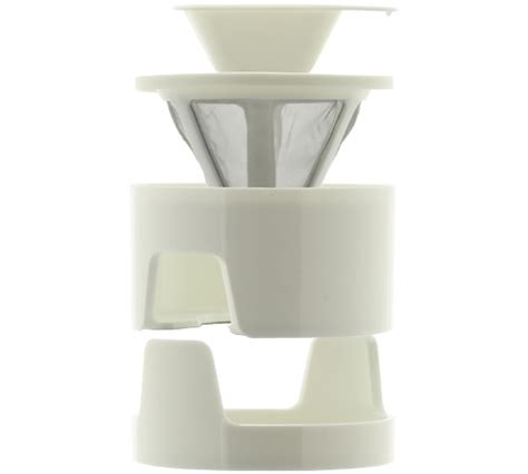Kinto Column Coffee Dripper kinto coffee dripper column conqiue blanc 1 tasse