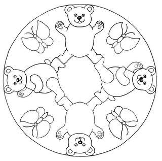 pueblo de casitas mandalas infantiles para colorear para ositos y mariposas mandalas infantiles para colorear para