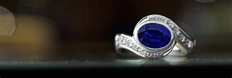 Blue Sapphire 1 44ct twist style 1 44ct sapphire and pave set platinum ring