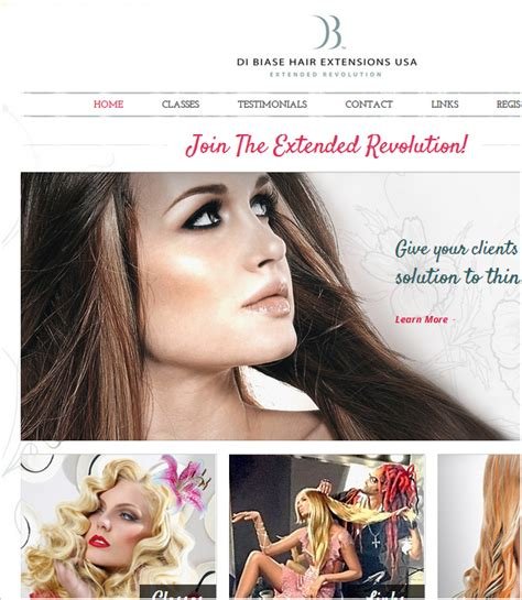before after di biase hair extensions usa on pinterest 5 inspirational fashion website designs by webguru