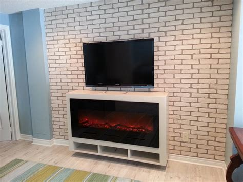 Rogers Cable Fireplace Channel by Mill Walk Floating Fireplace Cabinet