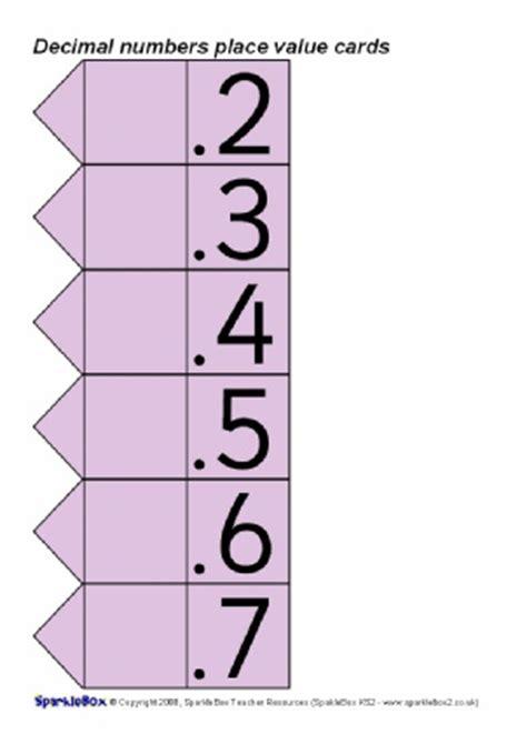 printable decimal number cards place value primary teaching resources decimal numbers