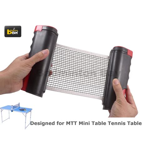 small ping pong table abroz retractable mini ping pong net accessory for mini