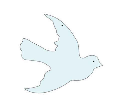 Paper Bird Craft Template - best photos of printable dove craft free printable dove