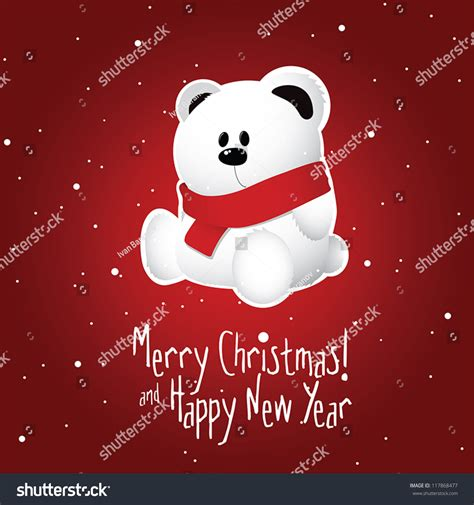 merry christmas happy  year postcard stock vector  shutterstock