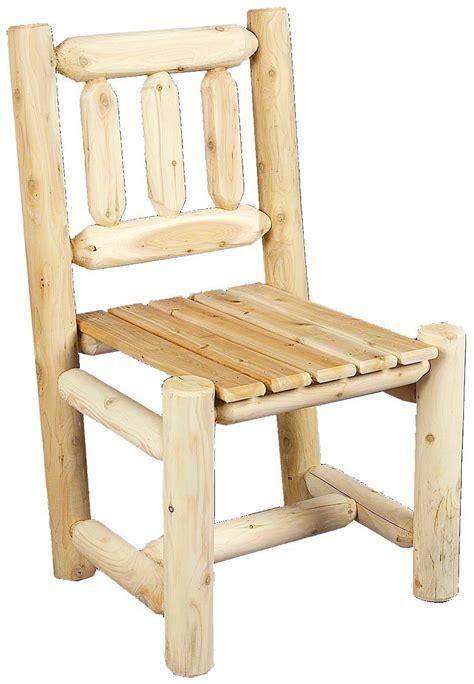 Log Dining Chairs Cedarlooks Cedar Log Rustic Dining Chair