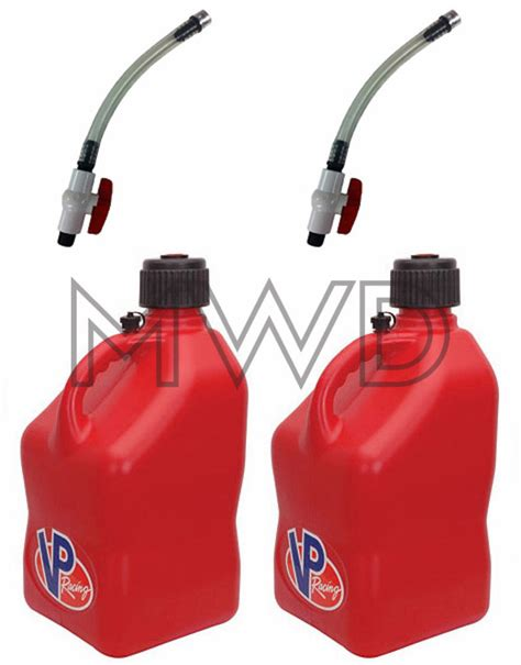 motocross race fuel 2 pack vp 5 gallon red racing fuel jug gas can jerry