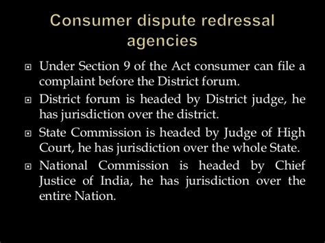 section 13 of consumer protection act consumer protection act 1986 background