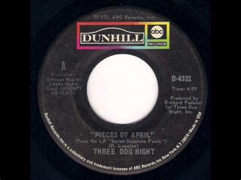 Pieces Of Three three pieces of april 1972
