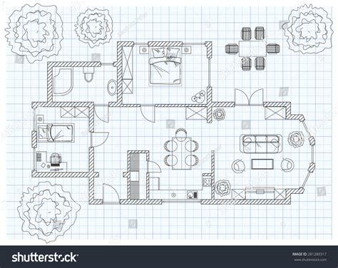 floor plan sketches black white floor plan sketch house stock vector 281289317