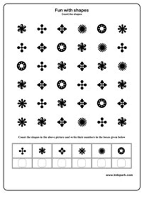 Counting Shapes Activity Sheets For Grade 3,Printable
