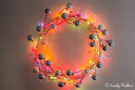 picture of wire and ornament wreath