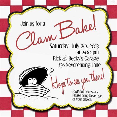 Clambake Wedding Invitations