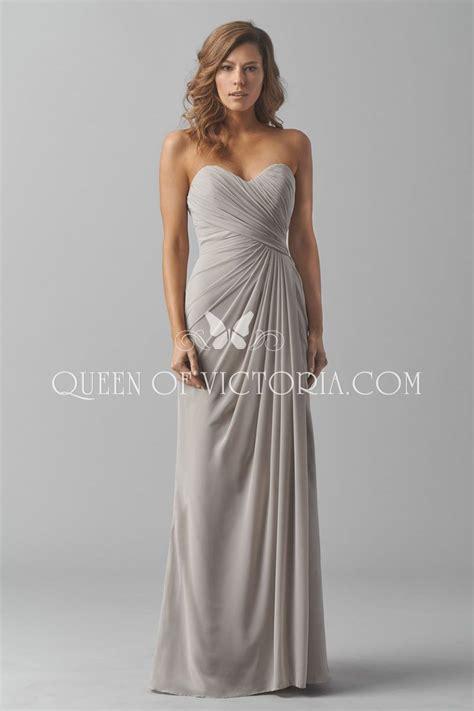 Strapless Bridesmaid Dress strapless sweetheart charming grey chiffon bridesmaid
