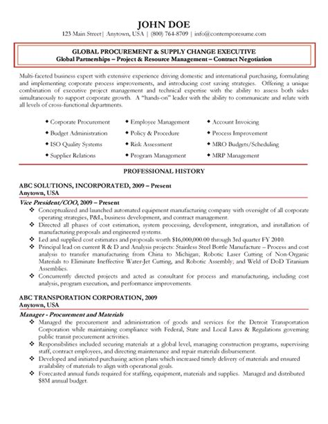best resume format for purchase executive global procurement executive resume