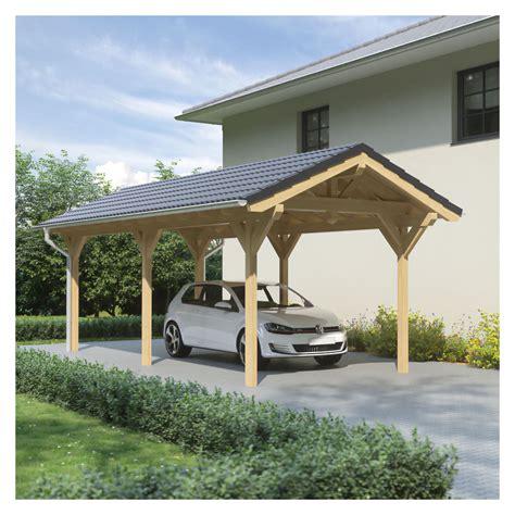 steda carport carport satteldach leimholz holz 4x7 m 400x700 cm