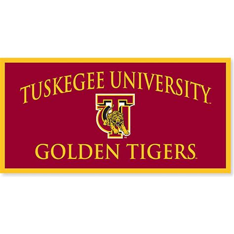 tuskegee university golden tigers 18'' x 36'' banner