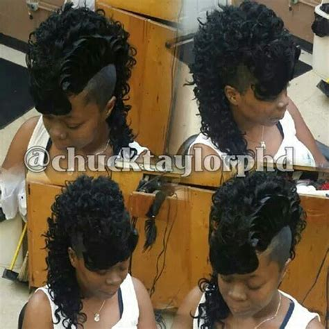 Mohawk Hairstyle For Black With Weave by Curly Mohawk Beautiful Hairstyles Mohawks