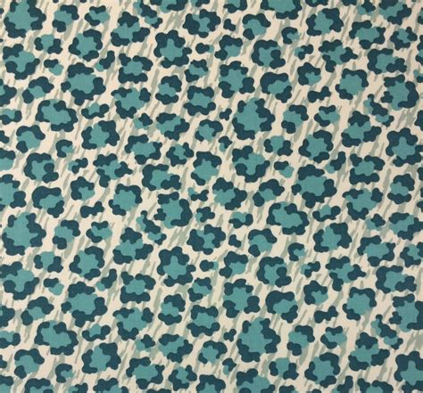 animal print outdoor fabric p kaufmann simba palm teal blue animal leopard print