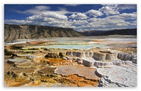 yellowstone national park wallpapers high definition yellowstone national park chalk terraces 4k hd desktop