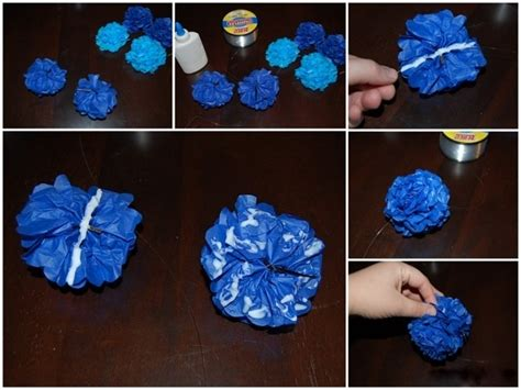 How To Make Hanging Tissue Paper Flowers - diy hanging tissue paper flowers tutorial mid south