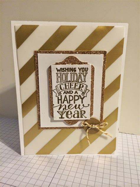 stampin  card wishing  holiday cheer   happy  year  mingle    happy